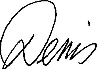 Dennis Ricci signature first name