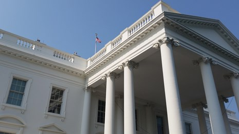 White House front angled view